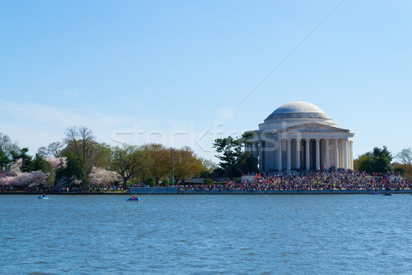 Crowded Thomas Jefferson Memorial Stock photo © rmbarricarte