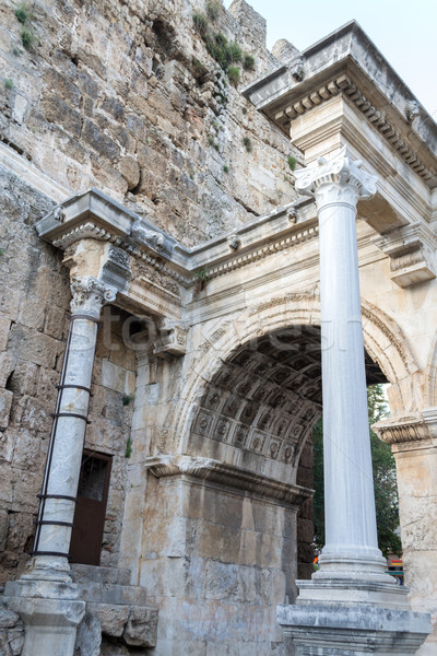 Oude Romeinse poort muur jaar keizer Stockfoto © rmbarricarte