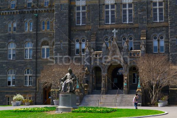 John Carrol in front of Georgetown University Stock photo © rmbarricarte