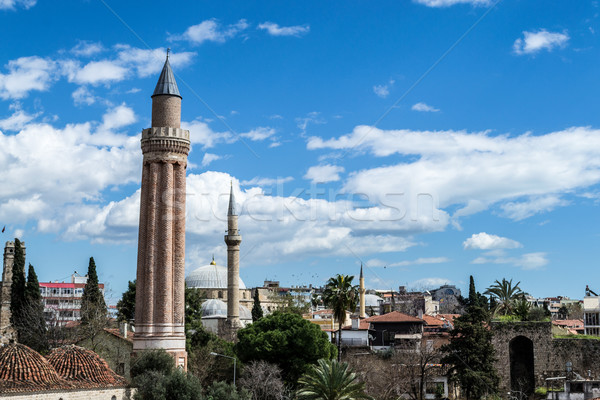 Mosque and minaret in Antalya Stock photo © rmbarricarte