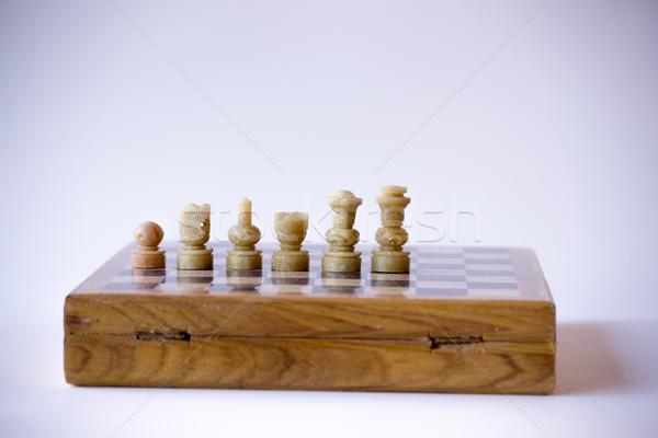 Witte half schaken spel strategie verstand Stockfoto © rmbarricarte