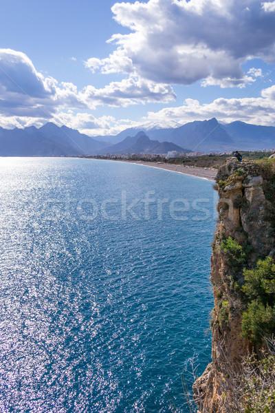 Rock by the sea Stock photo © rmbarricarte