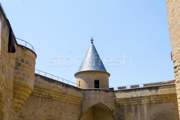 Castle tower Stock photo © rmbarricarte