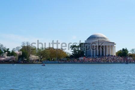 Emberek elnök USA fő- nyilatkozat virágok Stock fotó © rmbarricarte