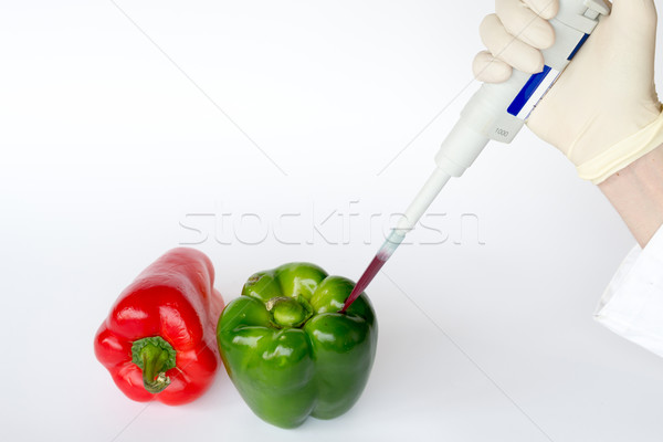 Pipetting peppers Stock photo © rmbarricarte