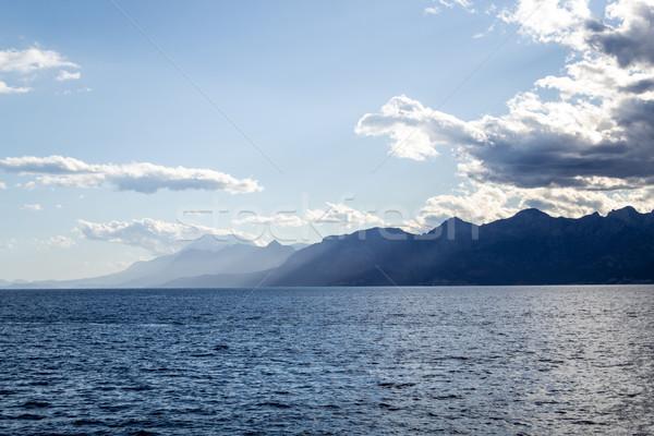 гор морем город юг Турция Средиземное море Сток-фото © rmbarricarte