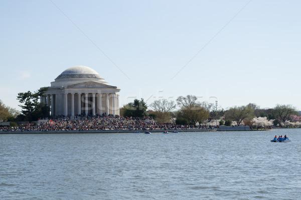 Elnök USA fő- nyilatkozat virágok fa Stock fotó © rmbarricarte