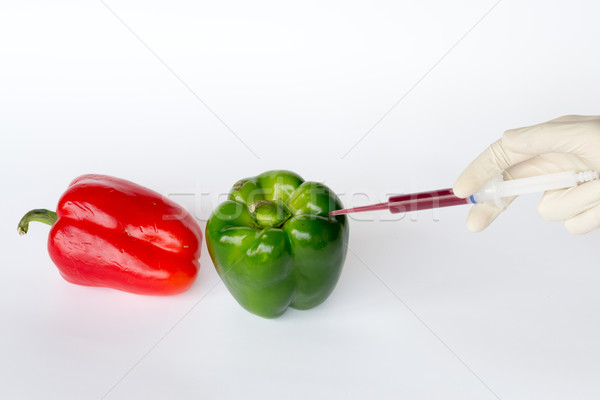 Stock photo: Converting green peppers