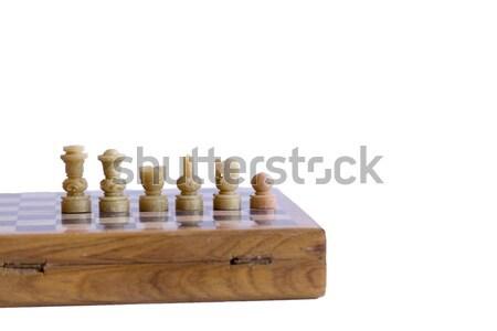 шахматам набор готовый начала стратегия интеллект Сток-фото © rmbarricarte