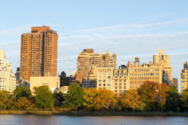 Sezon güz ağaçlar yan batı Central Park rezervuar Stok fotoğraf © rmbarricarte