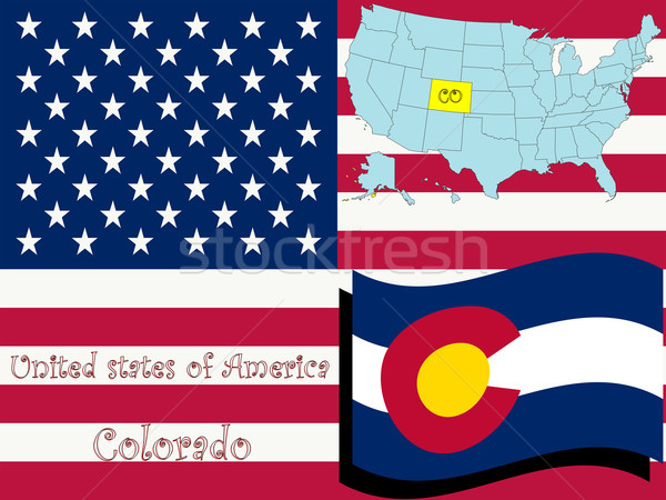 colorado state illustration Stock photo © robertosch