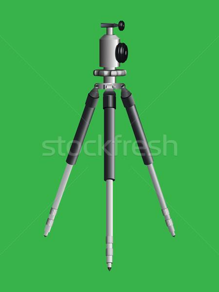 Stock photo: tripod for camera