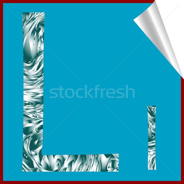 Alfabet letter l vector kunst illustratie meer Stockfoto © robertosch