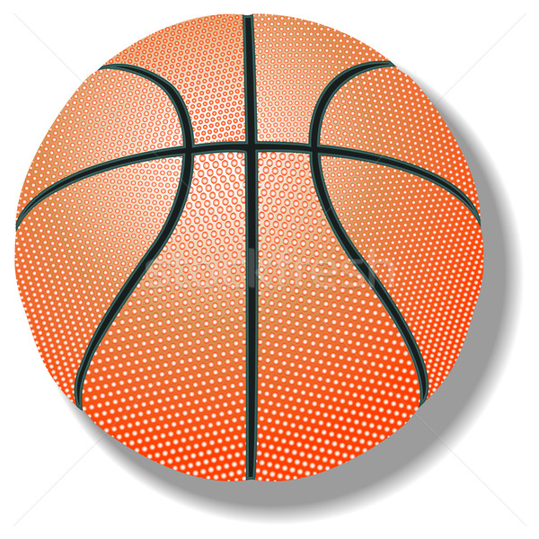 баскетбол белый аннотация вектора искусства иллюстрация Сток-фото © robertosch