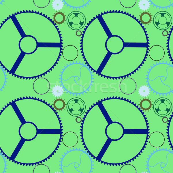 Monteur wielen vector kunst illustratie Stockfoto © robertosch