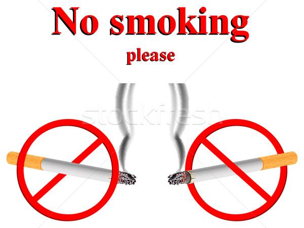 no smoking stylized signs Stock photo © robertosch