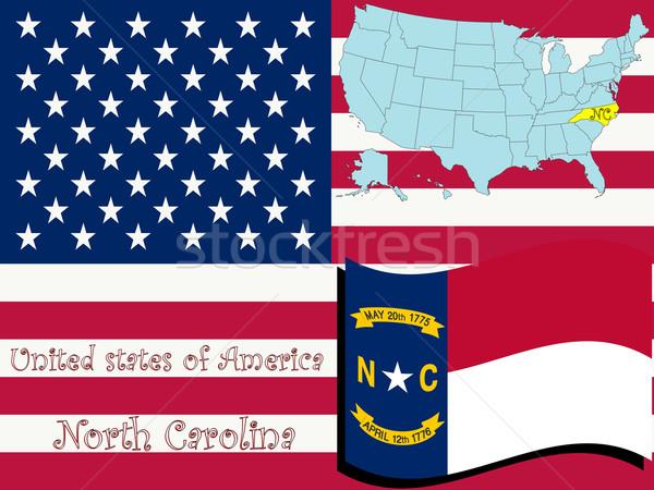 Carolina do Norte ilustração abstrato vetor arte mapa Foto stock © robertosch