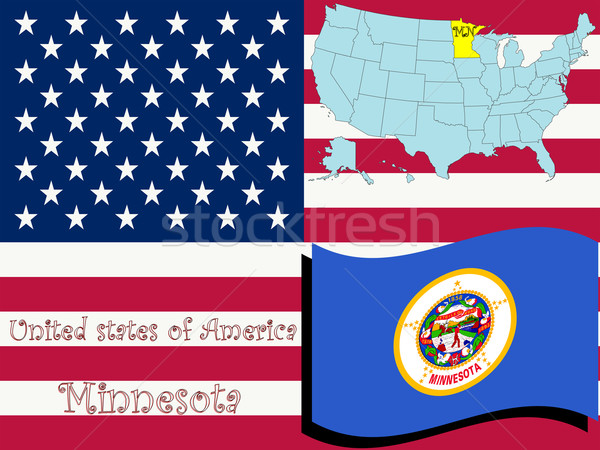 Minnesota ilustração abstrato vetor arte mapa Foto stock © robertosch
