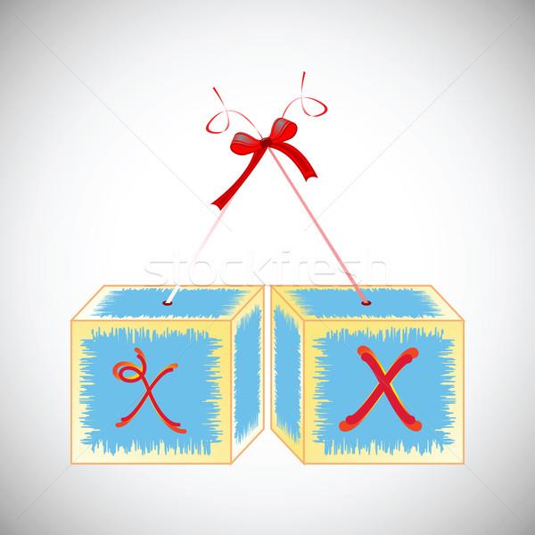 Alfabet streszczenie sztuki ilustracja edukacji Zdjęcia stock © robertosch