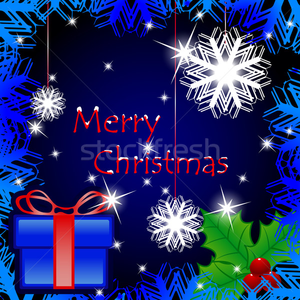 Karácsonyi üdvözlet absztrakt vektor művészet illusztráció kép Stock fotó © robertosch