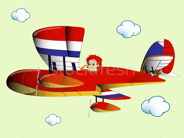 kid flying airplain Stock photo © robertosch