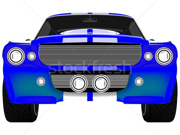 синий спорт автомобилей изолированный белый Сток-фото © robertosch