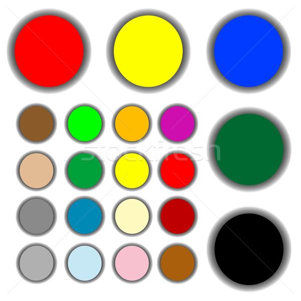 веб Кнопки изолированный белый вектора Сток-фото © robertosch