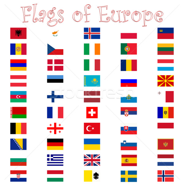 flags of europe against white Stock photo © robertosch