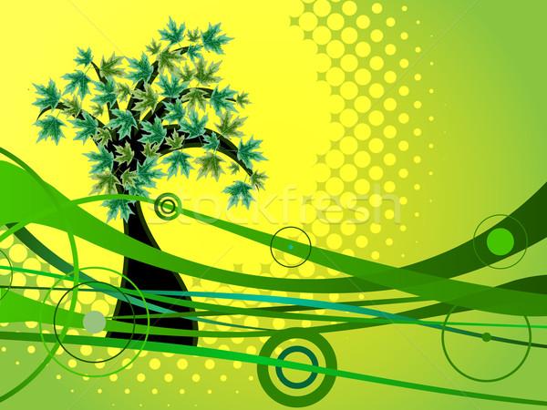 Stok fotoğraf: Yeşil · doğa · soyut · vektör · sanat · örnek