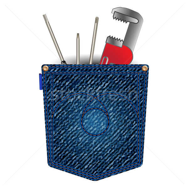 jeans pocket with tools Stock photo © robertosch