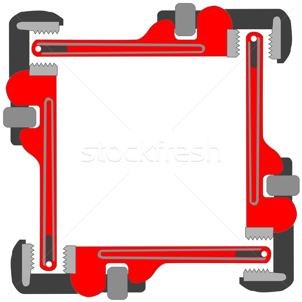 pipe wrench photo frame Stock photo © robertosch