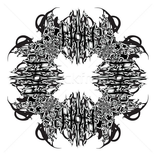 Dizájn elem fehér absztrakt vektor művészet illusztráció Stock fotó © robertosch