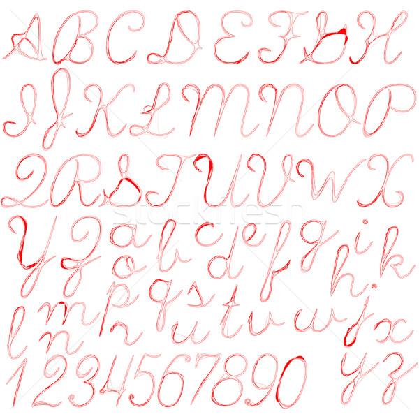 красный аннотация алфавит изолированный белый вектора Сток-фото © robertosch