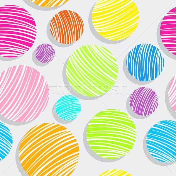 Licht kleurrijk bubbels patroon abstract naadloos Stockfoto © robertosch