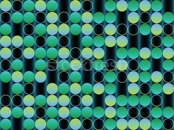 Buborékok zöld absztrakt vektor művészet illusztráció Stock fotó © robertosch