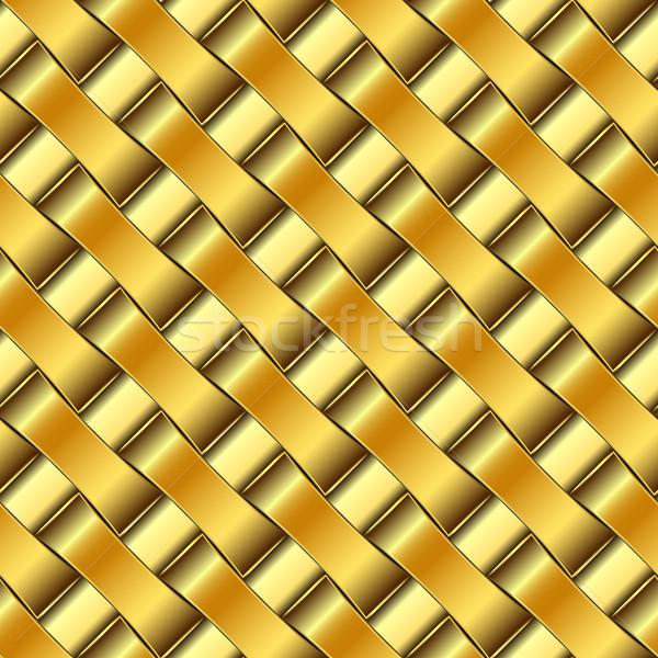 Gouden patroon abstract naadloos textuur vector Stockfoto © robertosch