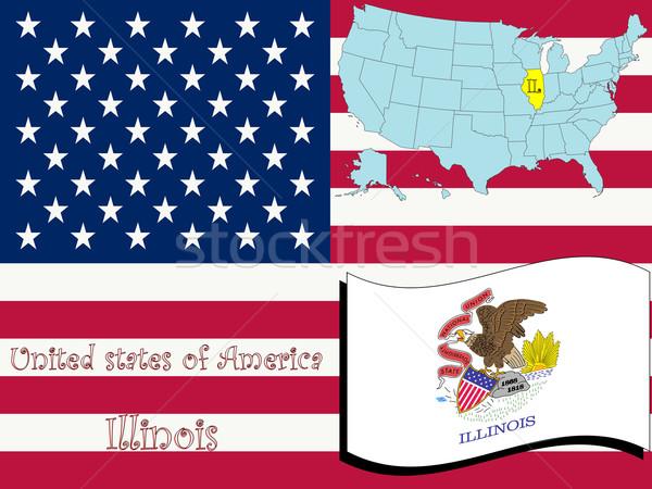 Stockfoto: Illinois · illustratie · abstract · vector · kunst · ontwerp