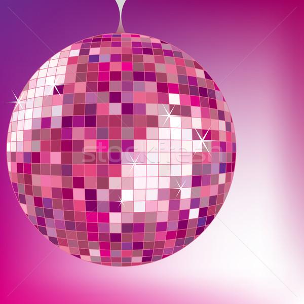 Disco Ball Purple вектора искусства иллюстрация музыку Сток-фото © robertosch