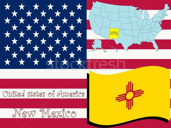 New Mexico örnek soyut vektör sanat harita Stok fotoğraf © robertosch
