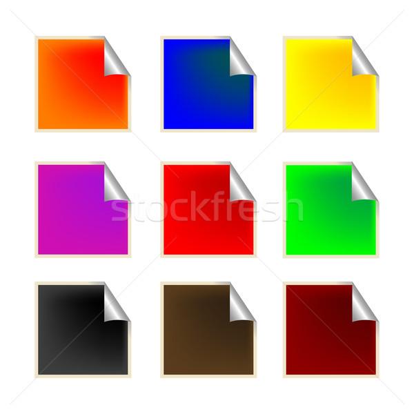свежие квадратный Этикетки вектора искусства иллюстрация Сток-фото © robertosch