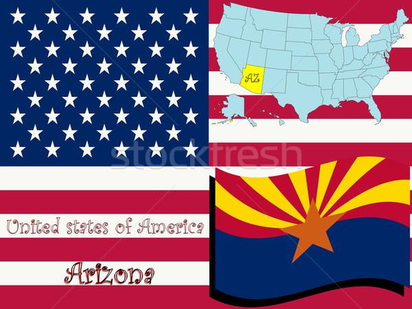 Arizona illustratie abstract vector kunst kaart Stockfoto © robertosch