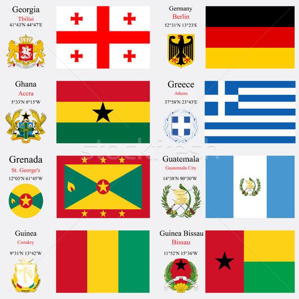 world flags and capitals set 9 Stock photo © robertosch