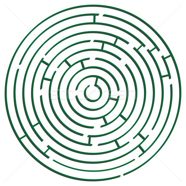 Groene doolhof witte abstract vector kunst Stockfoto © robertosch