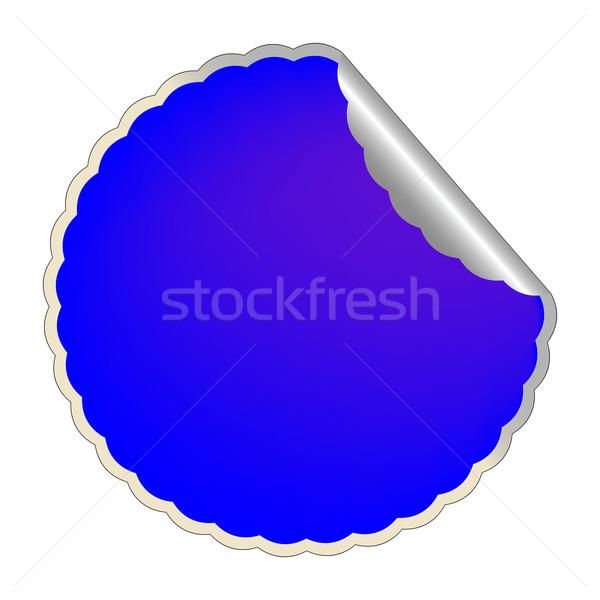 flowerish blue label Stock photo © robertosch