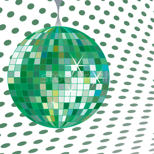 дискотечный шар зеленый вектора искусства иллюстрация музыку Сток-фото © robertosch