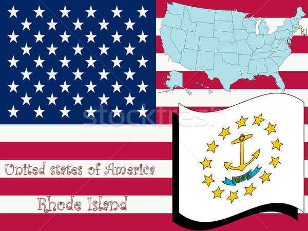 rhode island state illustration Stock photo © robertosch