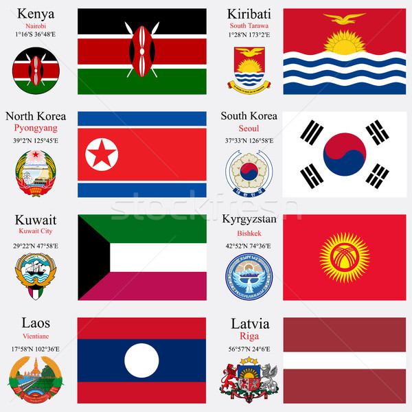 world flags and capitals set 12 Stock photo © robertosch