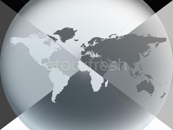 Aarde wereldbol grafische halo abstract vector Stockfoto © robertosch