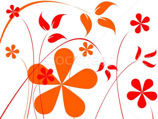 оранжевый красные цветы аннотация искусства иллюстрация природы Сток-фото © robertosch
