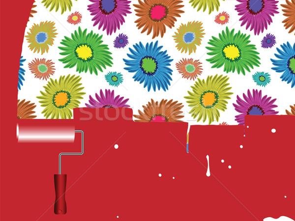 flowers painted wall Stock photo © robertosch
